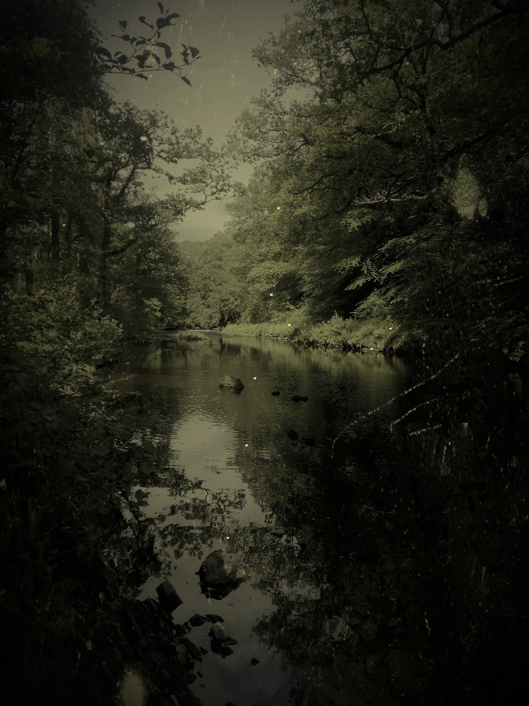 A dark river