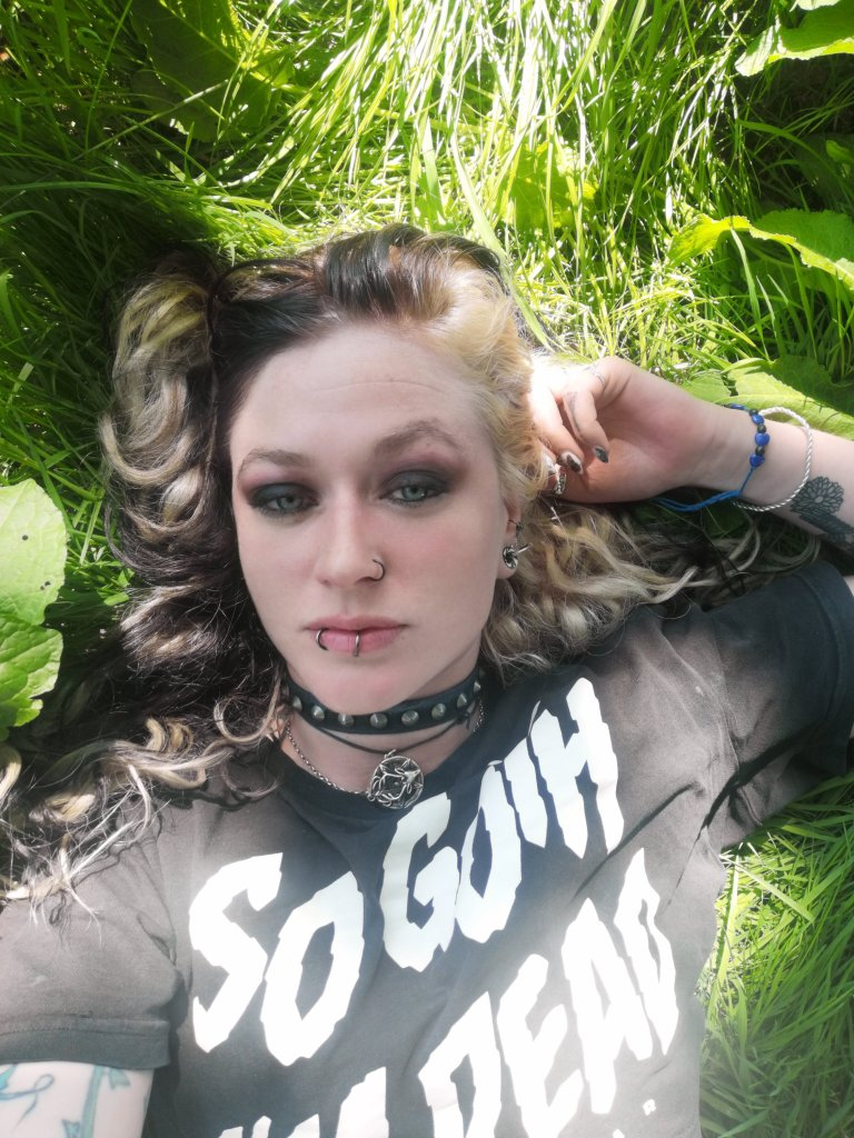 picture of my laying in the grass
