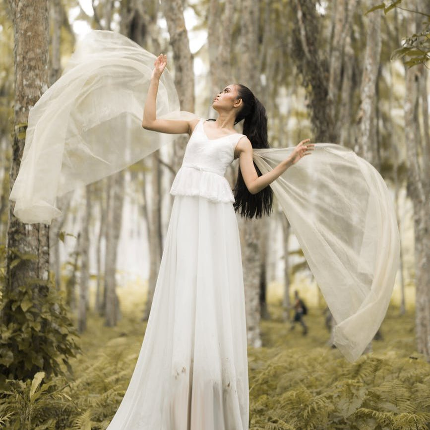 Maiden goddess in the woods